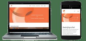 evolve mobiel site voorbeeld